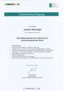 Zertifikat, DMA, Weiterbildung